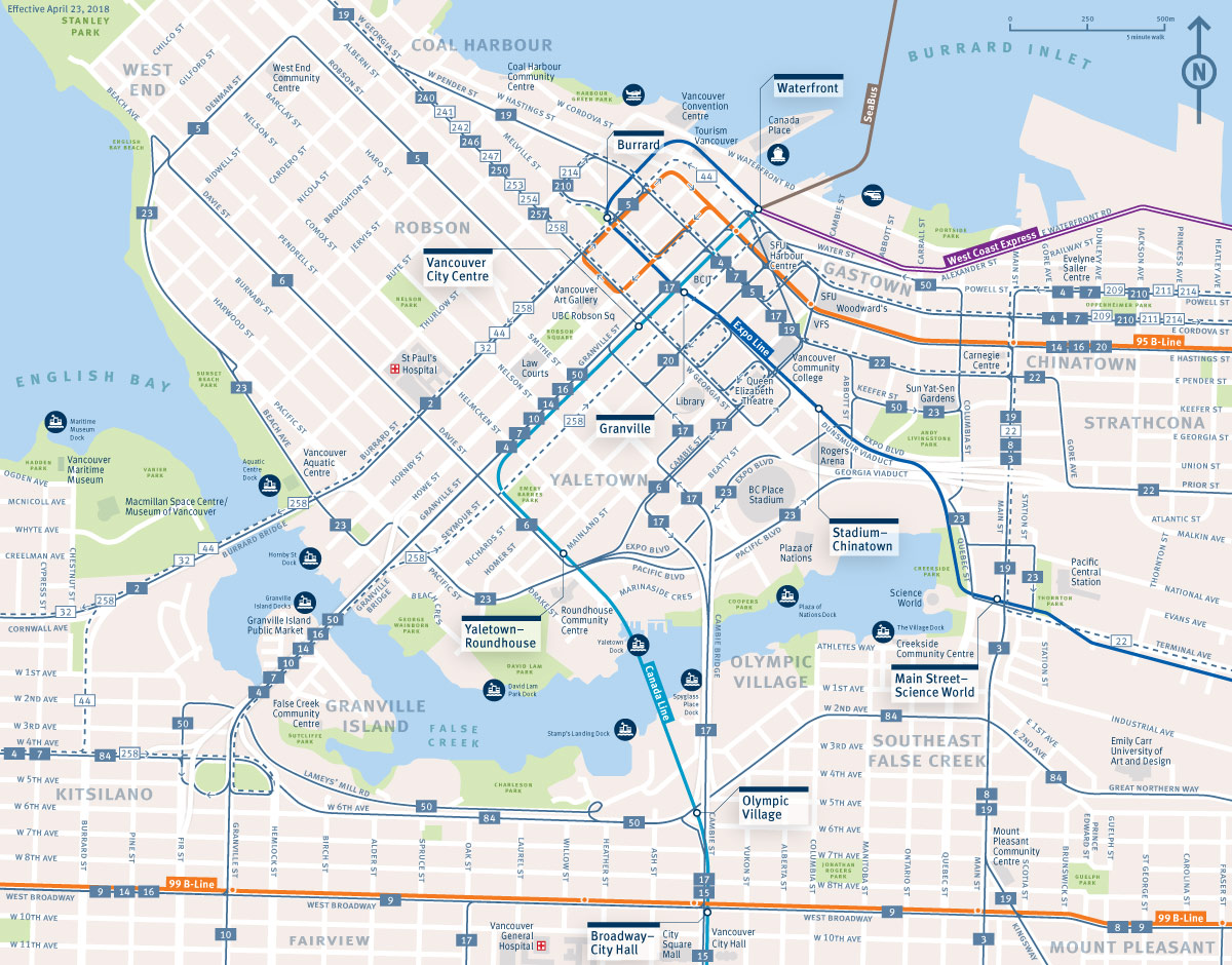Map Of Canada Line Vancouver.Top 10 Punto Medio Noticias Canada Line Skytrain Vancouver Map