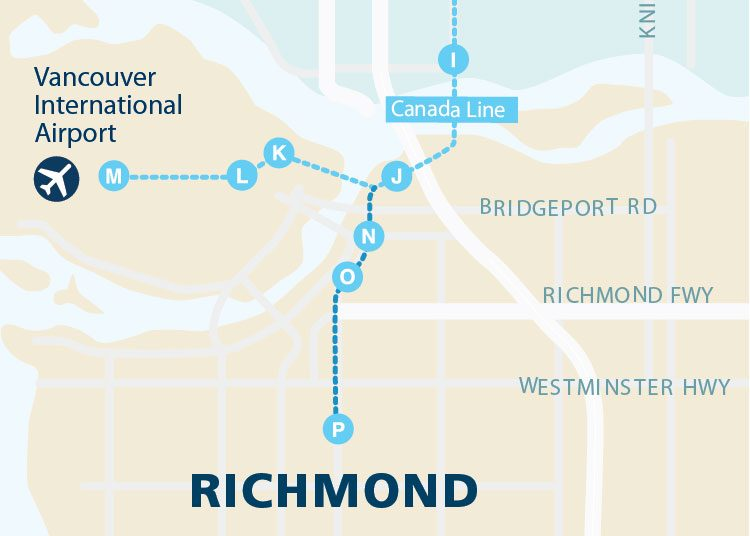 Map Of Canada Line Vancouver.Metro Vancouver Map Translink Richmond 3 Skytrain Condo Living