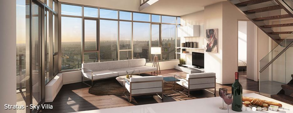 Solo District Interior renderings for Stratus