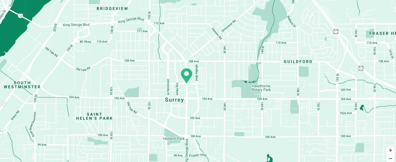 Parker Surrey Presale map