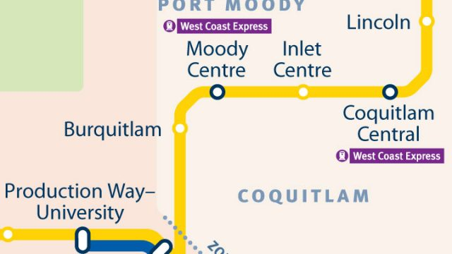SkyTrain Network Small Scale Coquitlam