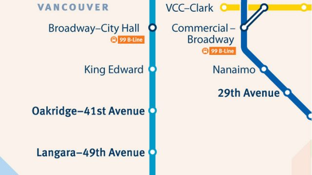 SkyTrain Network Small Scale Vancouver West
